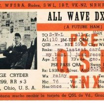 Image of George Cryder new Amateur Radio Post card -