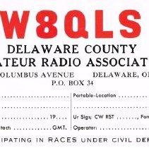 Image of Amateur Radio License, Delaware, Ohio.