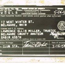 Image of Amateur Radio License, Delaware, Ohio. -