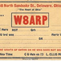 Image of Delaware Amateur Radios Post cards for reception and frequency confirmation -