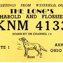 Image of Delaware County Amateur Radios Post cards for reception and frequency confi