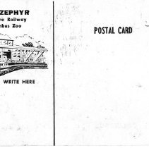 Image of Columus Zoo Ticket and Post card