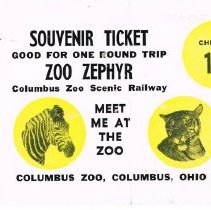 Image of Columbus Zoo Souvenir Ticket and Post card -