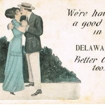Image of Greetings Post card from Delaware, Ohio.