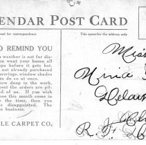 Image of Calendar Post Card from Delaware, Ohio