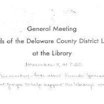 Image of Invitation for General Meeting Post card