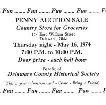 Image of Penny Auction Sale, Delaware, Ohio.