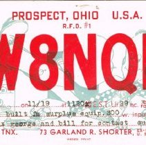Image of Amateur Radio Post cards and registers -