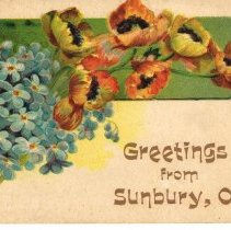 Image of Greetings from Sunbury, Ohio, Post card.