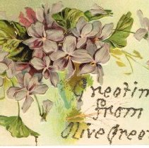 Image of Greetings from Olive Green, Ohio, Post card.