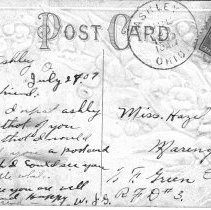 Image of Greetings from Ashley, Ohio, Post card