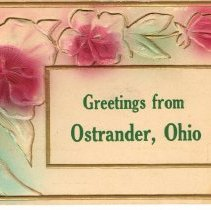 Image of Greetings from Ostrander, Ohio, Post card