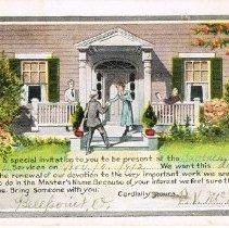 Image of Invitation Post card from the Sabbath School, Delaware, Ohio