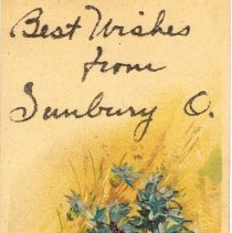 Image of Best Wishes from Sunbury, Ohio, Post card