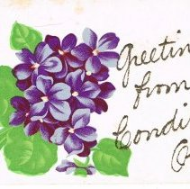 Image of Greetings from Condit, Ohio, Post card