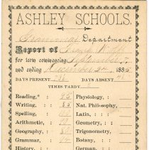 Image of Student Frank Wolff Report from Ashley Schools