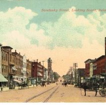 Image of View of Sandusky Street, looking South, Delaware, Ohio