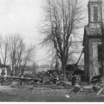 Image of Zion Reform Church, 1913 Great Flood, Delaware, Ohio - Mar - Apr