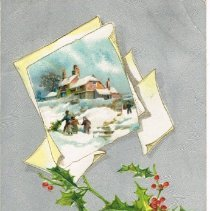 Image of Christmas and New Year Greeting Postcard
