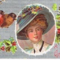 Image of Christmas Greetin Postcard