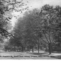 Image of North Franklin Street South from Asbury Church, Delaware, Ohio