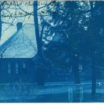 Image of Pomeroy Baptist Church in the March 1907 flood - Pomeroy, Ohio