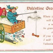 Image of Valentine Greeting Postcard
