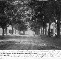 Image of West Second Street, leading to Anderson Mineral Springs, Waterford, PA