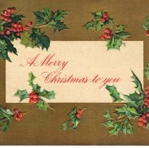 Image of A Merry Christmas Wishes wishes Postcard