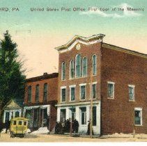 Image of Masonic Temple + U.S. Post Office, Waterford, Pennsylvania