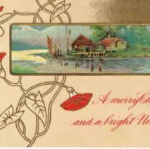 Image of Merry Christmas and Happy New Years wishes Postcard