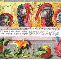 Image of Thanksgiving wishes Postcard