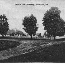 Image of View of the Cemetery - Waterford - Pennsylvania