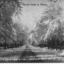 Image of Second Street in Winter - Chillicothe - Ohio