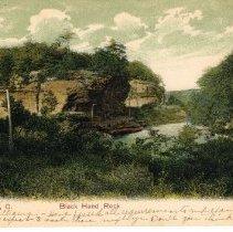 Image of Black Hand Rock - Newark - Ohio