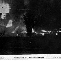 Image of Richford Grain Elevator in Flames - Vermont 10 Oct 1909