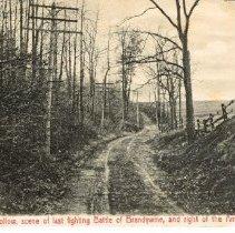 Image of Sandy Hollow scene of last fighting Battle of Brandywine Creek 1777
