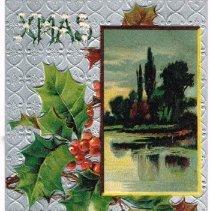 Image of Christmas Greetings Postcard 1910