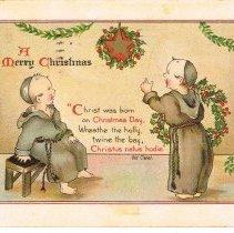 Image of Merry Christmas Postcard 1910