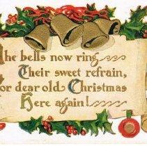 Image of Chsritmas Greetings Postcard 1910