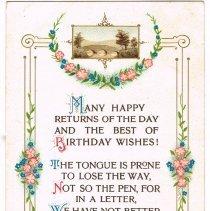 Image of Birthday Wishes Postcard