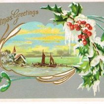 Image of Christmas Greetings Postcard 1911