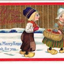 Image of Merry Christmas Postcard 1913