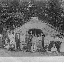 Image of Tent Revival in early 1900's