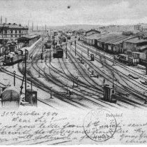 Image of Postcard of the railstation in Chemnitz, Germany