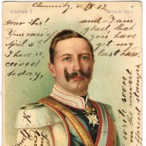 Image of Postcard of Emperor Wilhelm II, posted from Chemnitz, Germany