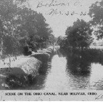 Image of Scene on the Ohio Canal near Bolivar, Ohio