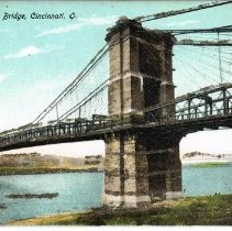 Image of Suspension Bridge - Cincinnati, Ohio