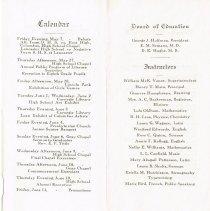 Image of Commencement Program for Delaware High School 1915, 3