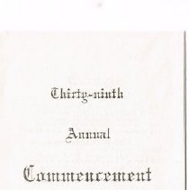 Image of Commencement Program for Delaware High School 1915 -